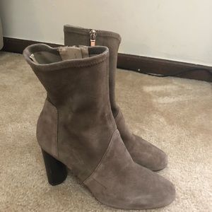 Zara suede taupe booties